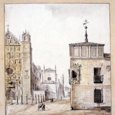 Vista de San Pablo y del palacio Pimentel de Valladolid