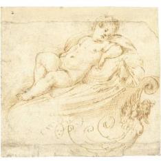 Niño desnudo tumbado