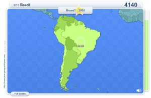 Geo Quizz South America . Geography map games