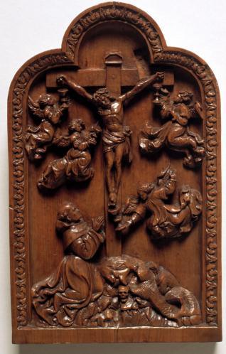 San Buenaventura en éxtasis ante el Crucificado
