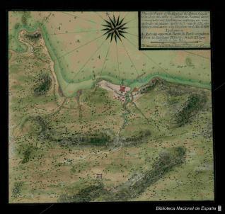 Plan del Puerto de la Carolina del Darien Situado en la Costa del Norte del Ysthmo de Panama