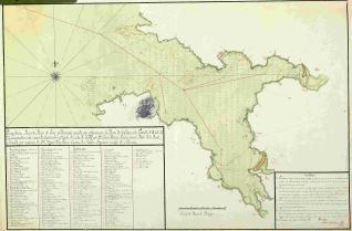 Plano de las Rias de Puente de Eume y Betanzos