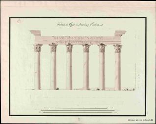 Diseños del Templo de Antonino y de Faustina en Campo Baccino en Roma ...