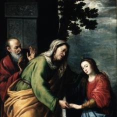 Virgen recibida por San Joaquin y Santa Ana / Visitación
