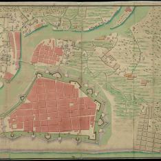 Plano de la ciudad y plaza de Manila