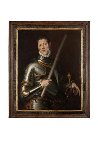 Retrato de caballero con armadura - Retrato de General joven