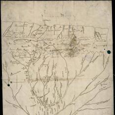 Mapa de las fuentes del Río Marañón y zona del Alto Perú