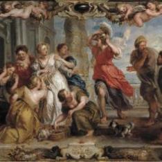 Aquiles descubierto por Ulises entre las hijas de Licomedes