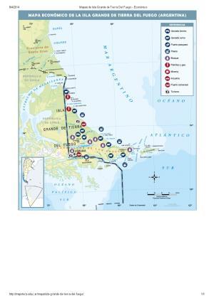 Mapa económico de Isla Grande de Tierra del Fuego. Mapoteca de Educ.ar