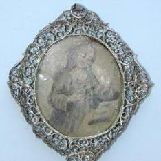 Medallón con San Antón y Santa