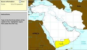 Capitals of Middle East. Cartographer. Sheppard Software