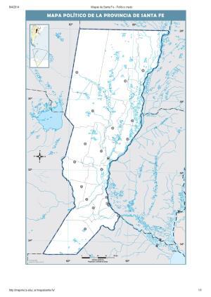 Mapa mudo de capitales de Santa Fe. Mapoteca de Educ.ar