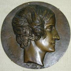 Medallón con el retrato de Claudyna Gräfin Potocka