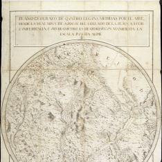 Plano geografo de Quatro leguas