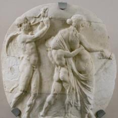 Fragmento de crátera con Dionisos y su séquito