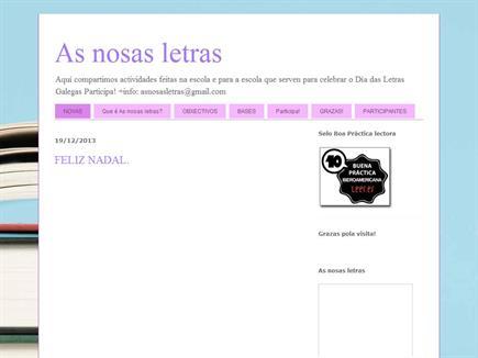 AS NOSAS LETRAS