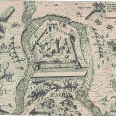 Il Capo del jmp sopra Iauarino, con i nomi de assai Principi, et signori, et il numero dele genti