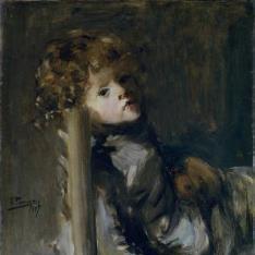 Ignacio, hijo del artista, sentado