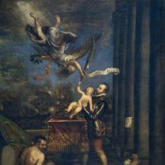 Felipe II, después de la Victoria de Lepanto, ofrece al Cielo al príncipe don Fernando