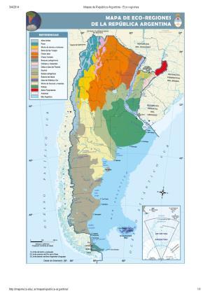 Mapa eco-regiones de Argentina. Mapoteca de Educ.ar