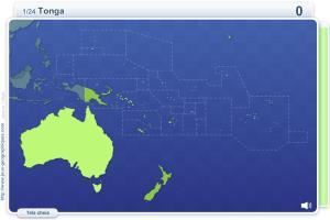 Geo Quizz Oceânia.  Jogos geográficos