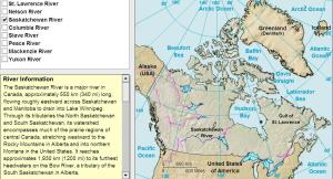 Rivers of Canada. Tutorial. Sheppard Software