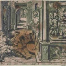 Lázaro pidiendo las migajas del rico Epulón
