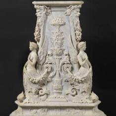 """Pedestal de """"Isabel II, velada"""""""