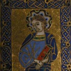 Placa con San Juan Evangelista