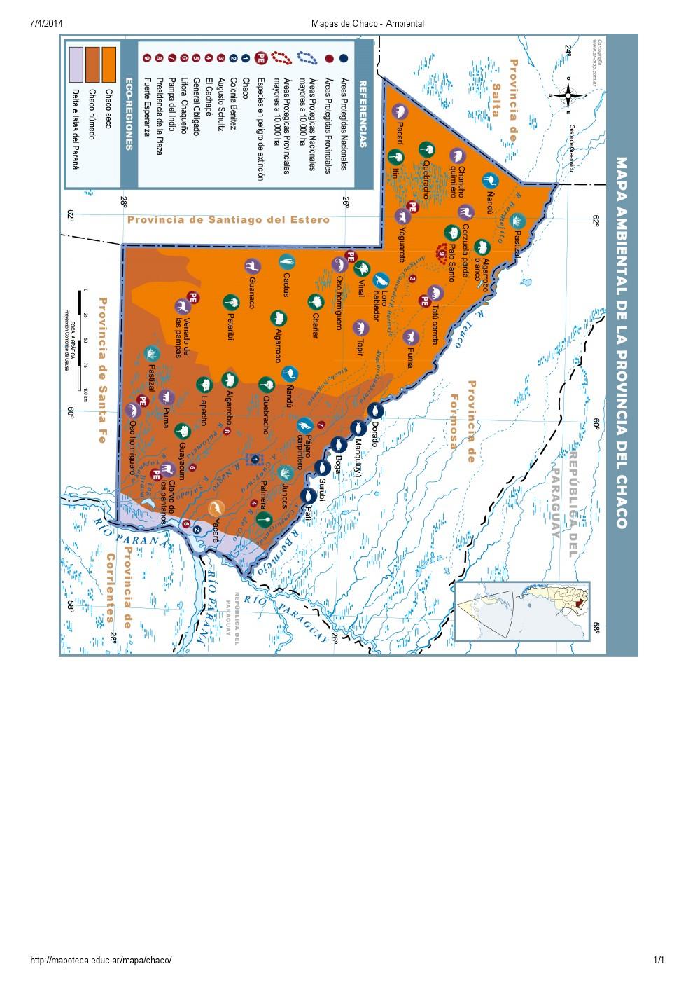 Mapa ambiental del Chaco. Mapoteca de Educ.ar