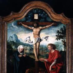 San Juan y la Virgen al pie de la Cruz