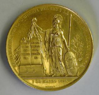 Medalla conmemorativa de la jura de la Constitución por el rey Fernando VII