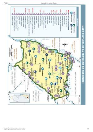 Mapa cultural de Corrientes. Mapoteca de Educ.ar