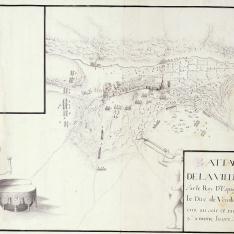 Attaques de la ville de Brihuega par le Roy D'Espagne