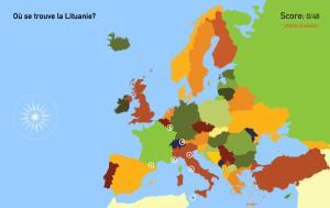 Pays de l'Europe. Toporopa