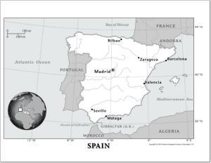 Mapa de ríos de España. National Geographic