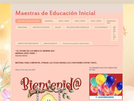 Maestras de educación inicial