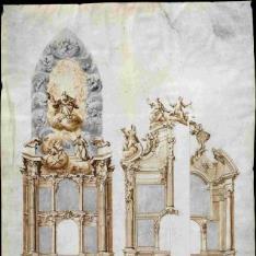Proyectos para el retablo de la capilla de san Ildefonso de la Catedral de Toledo