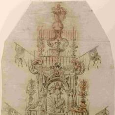 Proyecto de catafalco para los funerales del rey Felipe V en Zaragoza