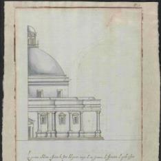 Alzado exterior de la iglesia de San Giovanni del Fiorentini, Roma