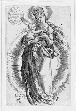 La Virgen en creciente con corona de estrellas