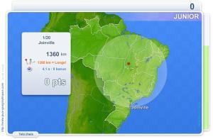 Cidades do Brasil Júnior.  Jogos geográficos
