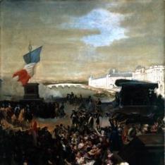 Boceto para La Guardia Nacional de París parte para el Ejército en 1792