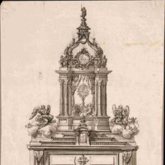 Altar con expositor para el Santísimo