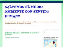 SALVEMOS EL MEDIO AMBIENTE CON SENTIDO HUMANO