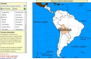 Countries of South and Central America. Tutorial. Sheppard Software