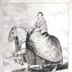 Retrato ecuestre de Isabel de Borbón