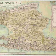 Plano que manifiesta la situación de la Ysla de Mallorca