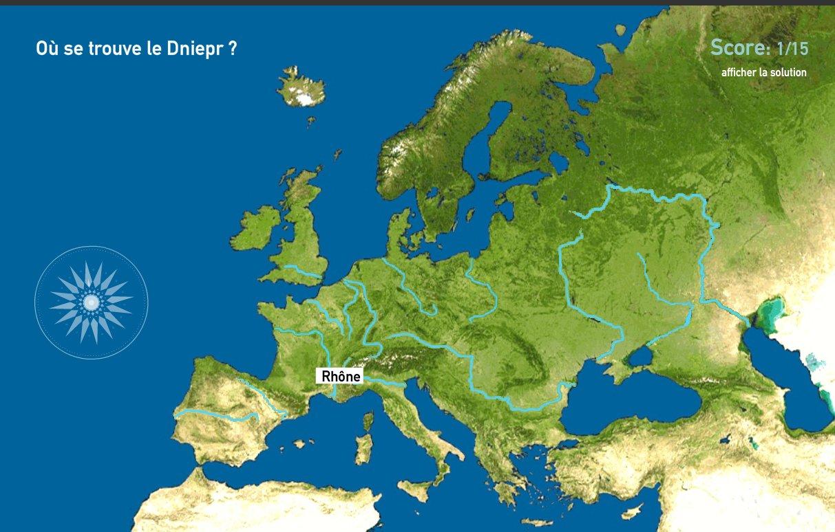 Carte De Leurope Jeux Educatifs.Carte Interactive D Europe Fleuves De L Europe Toporopa Mapas