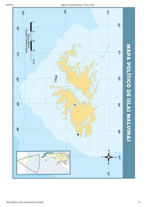 Mapa mudo de islas de las Islas Malvinas. Mapoteca de Educ.ar